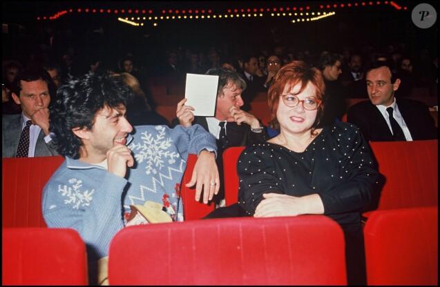 ARCHIVES - Philippe Berry et Josiane Balasko au spectacle de Patrick Sébastien, le 5 février 1987.