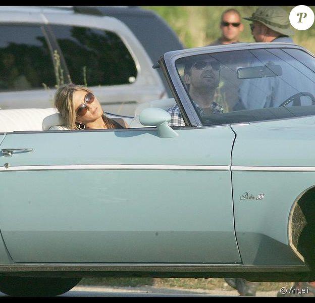 Jennifer Aniston et Gerard Butler sur le tournage de Bounty Hunter le 6 juillet 2009 à New York