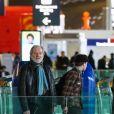 Exclusif - Vanessa Paradis vient chercher ses enfants Lily-Rose et Jack Depp à l'aéroport Roissy CDG, près de Paris le 19 mars 2017.