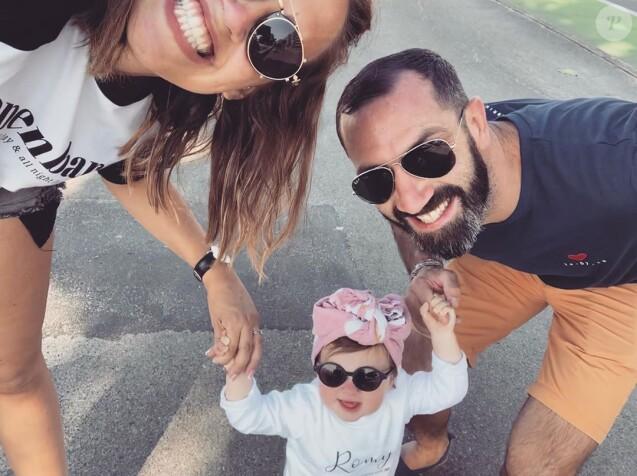 """Tiffany de """"Mariés au premier regard"""" avec Justin et leur fille Romy, sur Instagram, le 23 août 2019"""