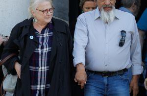 Josiane Balasko et son mari assistent aux obsèques de Nancy Holloway