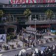 Fans massés au Staples Center