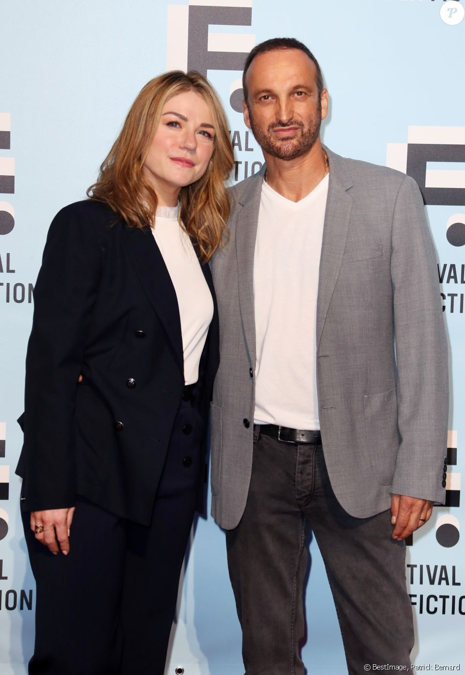 Emilie Dequenne et son mari Michel Ferracci participent à la soirée d'ouverture du premier jour de la 21ème Festival de la Fiction de La Rochelle, France, le 11 septembre 2019. © Patrick Bernard/Bestimage