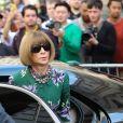 """Anna Wintour à son arrivée au défilé de mode """"Victoria Beckham"""" lors de la fashion week de Londres. Le 15 septembre 2019"""