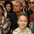 Victoria Beckham soutenue par sa famille lors de son défilé de mode organisé à Londres, le 15 septembre 2019. David Beckham et leurs enfants, Brooklyn, Romeo, Cruz et Harper étaient présents.