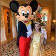Jade Lagardère a fêté les 7 ans de Liva à Disneyland Paris, le 16 septembre 2019.