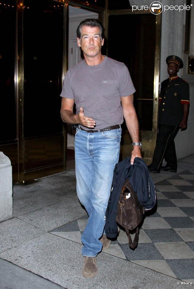 Pierce Brosnan à New York, le 8 juillet 2009