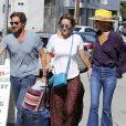 Laeticia Hallyday et Marilyne Issartier, son ex-belle-soeur, Pascal Balland et Marine, son ex-femme, à Los Angeles. Le 13 septembre 2019