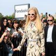 Nicole Kidman arrive au défilé Prada lors de la Fashion Week (MLFW),le 18 septembre 2019.