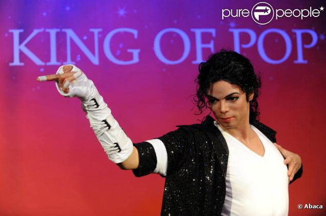 La poupée de cire en hommage à Michael Jackson révélée au musée de Madame Tussauds à Londres, le 9 juillet 2009