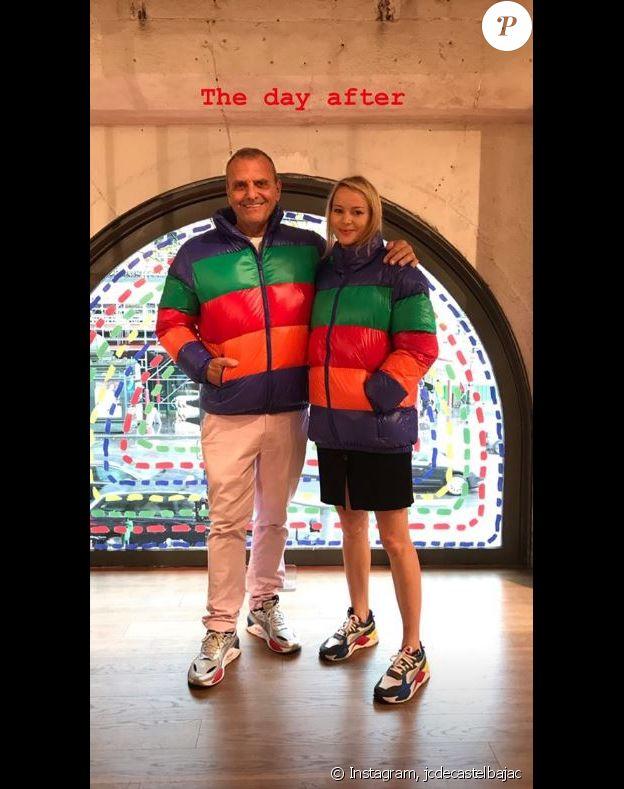 Jean-Charles de Castelbajac et son épouse Pauline dans des créations pour United colors of Benetton. Instagram, le 22 septembre 2019.