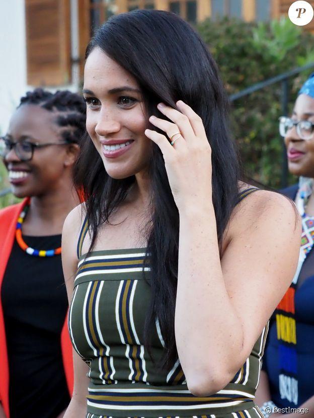 Meghan Markle, duchesse de Sussex, se rend à la résidence de l'ambassadeur à Cape Town, au 2 ème jour de leur visite en Afrique du Sud. Le 24 septembre 2019  Portraits of the Duchess of Sussex at a reception for young people, community and civil society leaders at the Residence of the British High Commissioner in Cape Town on day two of the royal tour to South Africa. 24 September 2019.24/09/2019 - Cape Town