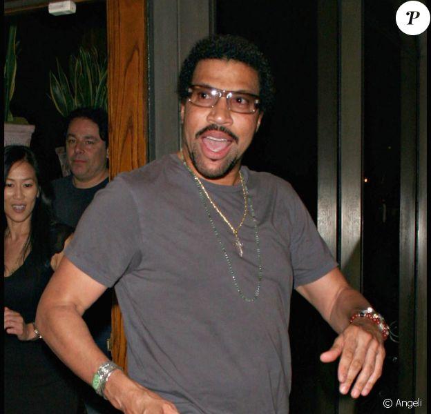 Lionel Richie, au restaurant Madeo de West Hollywood, à Los Angeles, le 9 juillet 2009 !