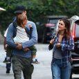 Exclusif - Rachel Bilson et son ex Hayden Christensen sont allés dîner avec leur fille Briar Rose à Encino à Los Angeles, le 3 octobre 2018
