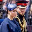 Meghan Markle, duchesse de Sussex, a fait une réapparition publique en plein congé maternité pour assister aux cérémonies de Trooping the Colour le 8 juin 2019 au palais de Buckingham, à Londres.