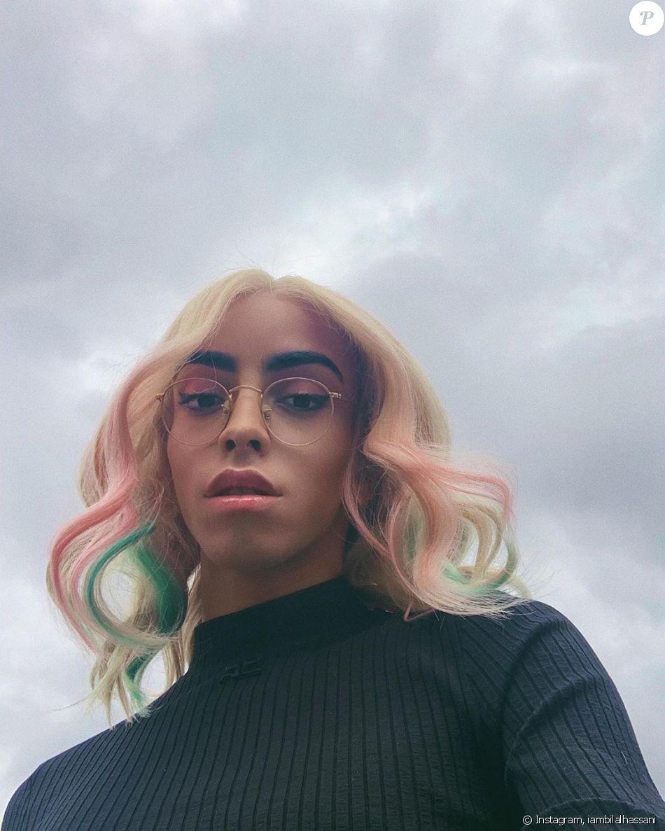 Bilal Hassani et sa perruque colorée sur Instagram- Septembre 2019.