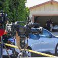 Ambiance devant la domicile de Mac Miller après qu'il ait été retrouvé mort dans sa maison de San Fernando le 7 septembre 2018.  Mac Miller's body is loaded into the coroner's van as his family and friends grieve his death in San Fernando september 7, 2018.07/09/2018 - Los Angeles