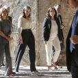 """Letizia d'Espagne lors de l'inauguration du séminaire international sur les langues et le journalisme intitulé """"Espagnol et machines: langues, éthique et journalisme"""" à San Miguel de la Cogolla, à La Rioja, le 3 octobre 2019."""