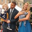 Ryan Reynolds avec sa femme Blake Lively et leurs deux filles. L'acteur a reçu son étoile sur le Walk of Fame à Hollywood, le 15 décembre 2016.
