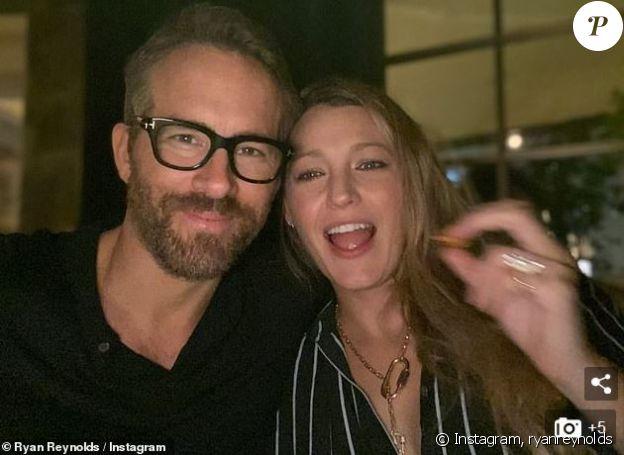 Ryan Reynolds et Blake Lively lors d'une sortie au restaurant en amoureux. Le couple a accueilli un troisième enfant il y a deux mois. Instagram, le 3 octobre 2019.