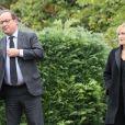 François Hollande et sa compagne Julie Gayet - Claude Chirac, son mari Frédéric Salat-Baroux et son fils Martin Rey-Chirac se sont rendu au musée du président Jacques Chirac de Sarran en Corrèze le 5 octobre 2019. © Patrick Bernard/Bestimage