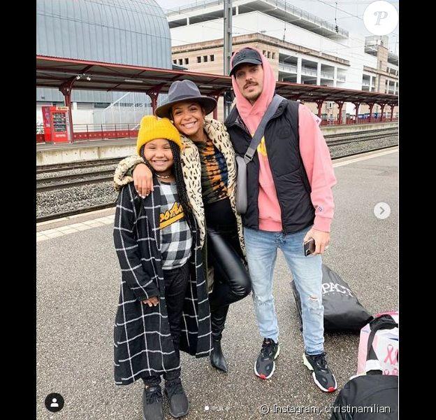 Christina Milian, M. Pokora et Violet à Strasbourg le 6 octobre 2019.