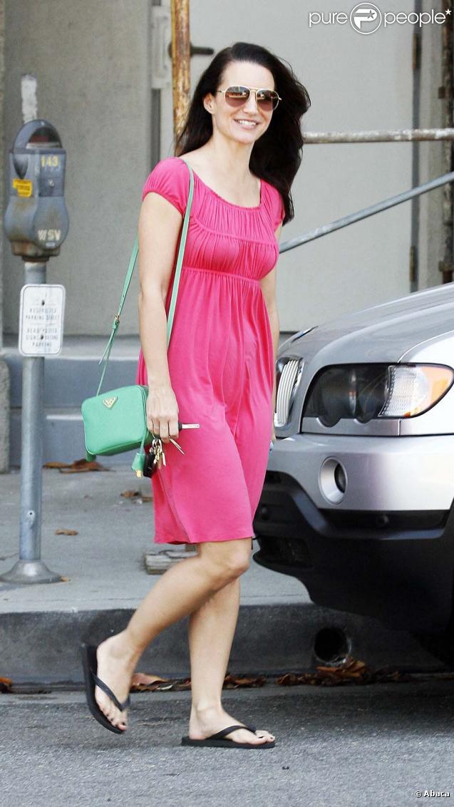Kristin Davis quitte son bureau le 10 juillet 2009 à Los Angeles