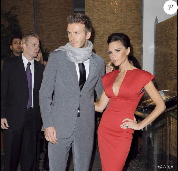 David et Victoria Beckham (janvier 2009)
