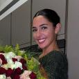 Coralie Porrovecchio prend la pause avec le bouquet offert par son chéri Boubacar Kamara, sur Instagram le 9 octobre 2019.