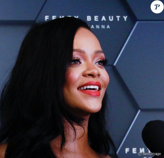 Rihanna à la soirée Fenty Beauty chez Sephora dans le quartier de Brooklyn à New York, le 14 septembre 2018