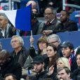 "Vianney et sa compagne Catherine Robert - Tribunes lors du match de qualification pour l'Euro2020 ""France - Turquie (1-1)"" au Stade de France. Saint-Denis, le 14 octobre 2019. © Cyril Moreau/Bestimage"