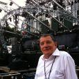Jean-Claude Camus avant le concert gratuit  de Johnny au pied de la Tour Eiffel : 50 ans de carrière atteints en ce 14 juillet 2009 !