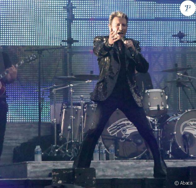 Johnny Hallyday en concert gratuit au pied de la Tour Eiffel le 14 juillet 2009, devant 700 000 à un million de spectateurs