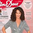 """Linda Hardy en couverture du magazine """"Nous Deux"""", pour la semaine du 14 octobre 2019."""