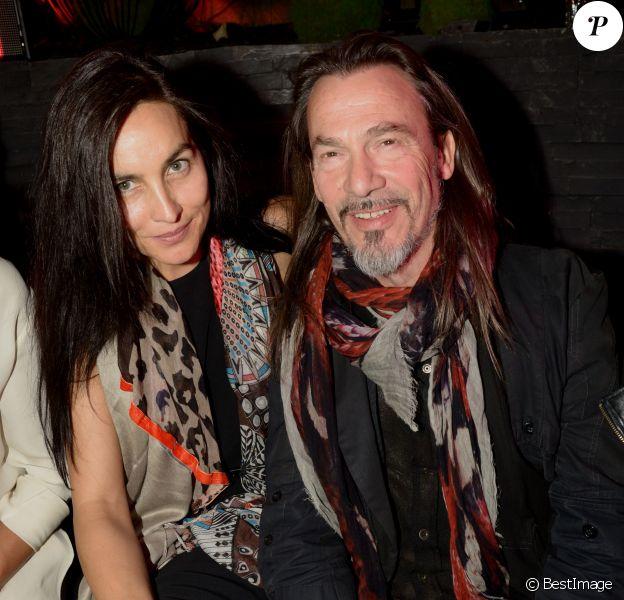 Florent Pagny et sa femme Azucena - Inauguration de la discothèque L'Arc à Paris le 2 octobre 2014.