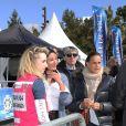 Jazmin Grace Grimaldi (la fille du prince A. II de Monaco), la princesse Stéphanie de Monaco - Départ du 28ème Rallye Aicha des Gazelles depuis la Promenade des Anglais à Nice le 17 mars 2018.