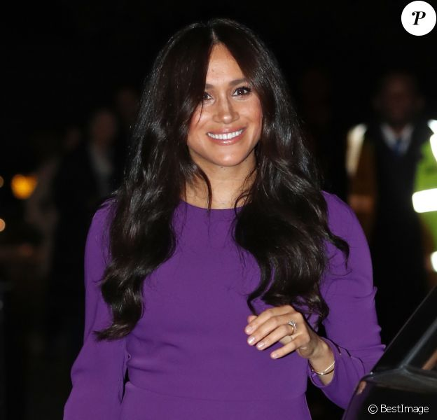 Meghan Markle, duchesse de Sussex, arrive à l'ouverture du sommet One Young au Royal Albert Hall à Londres le 22 octobre 2019.