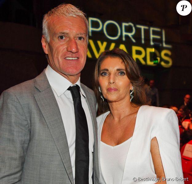 Didier Deschamps et sa femme Claude durant la soirée des Sportel Awards 2019 au Grimaldi Forum à Monaco le 22 octobre 2019. © Bruno Bebert/Bestimage