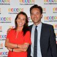 Sophie Le Saint et Nathanaël de Rincquesen lors du photocall de la présentation de la nouvelle dynamique 2017-2018 de France Télévisions. Paris, le 5 juillet 2017. © Guirec Coadic/Bestimage