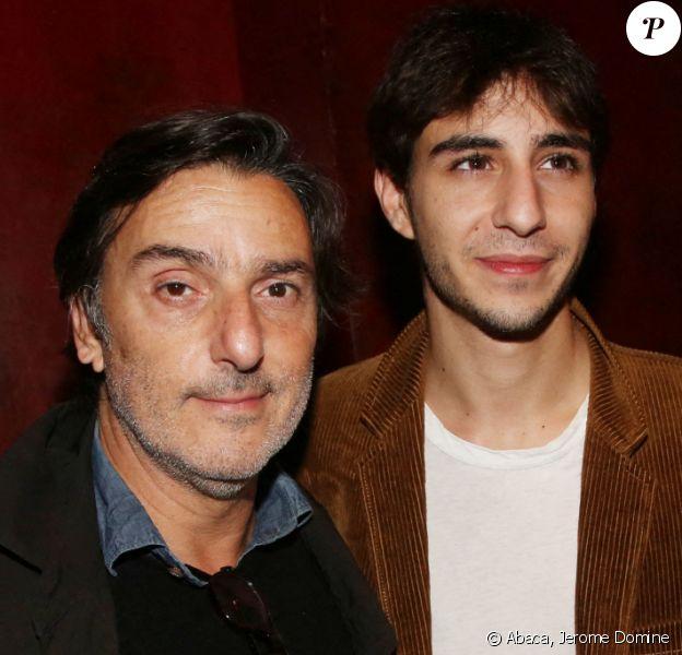 """Charlotte Gainsbourg, Yvan Attal et leur fils Ben Attal à l'After Party du film """"Mon chien Stupide"""". Paris. Le 22 octobre 2019."""