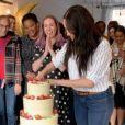 Meghan Markle, duchesse de Sussex, lors d'une visite à la boulangerie Luminary à Londres la dernière semaine d'octobre 2019. Capture d'écran d'une vidéo Instagram du compte Sussex Royal.