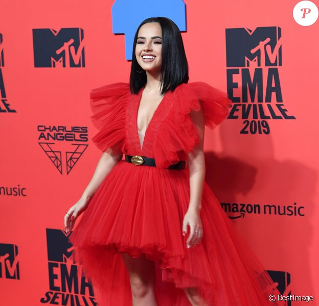 Becky G assiste aux MTV European Music Awards 2019 (MTV EMA's) au FIBES Conference and Exhibition Centre à Séville en Espagne, le 3 novembre 2019.