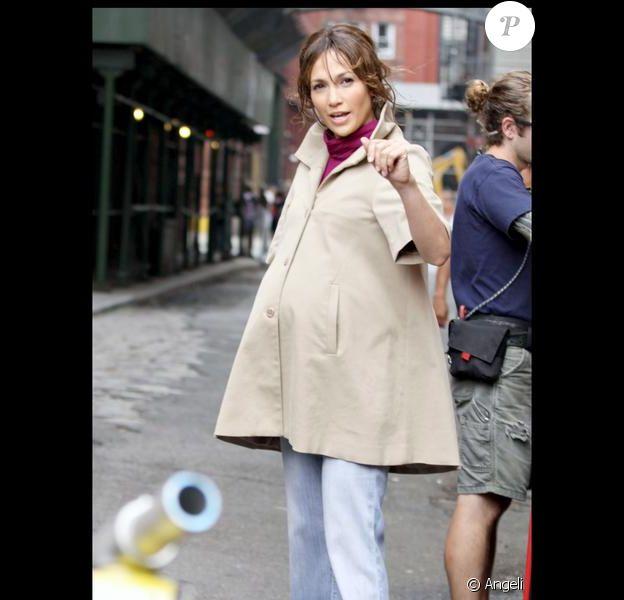 Jennifer lopez en plein tournage du film The Backup Plan, le 17 juillet 2009