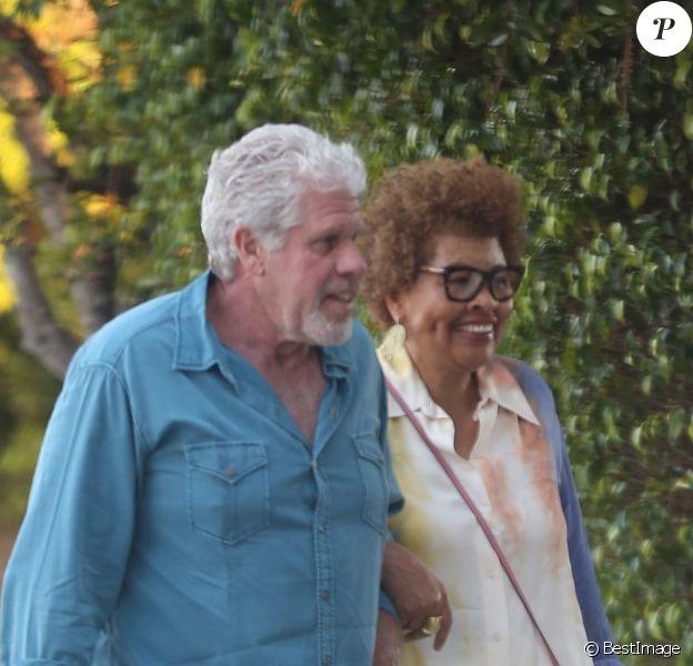 Exclusif - Ron Perlman et sa femme Opal Perlman sont allés dîner dans un restaurant de Beverly Hills, le 12 juillet 2018.