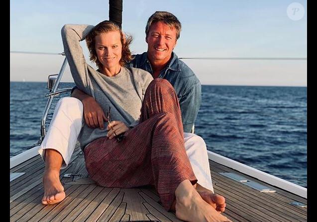 Eva Herzigova et son mari Gregorio Marsiaj. Septembre 2019.