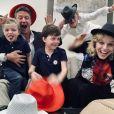 Eva Herzigova, son mari Gregorio Marsiaj et leurs enfants. Janvier 2019.