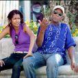 Danny Glover et sa fiancée à Ischia, durant le 7e Festival Global. Juillet 2009