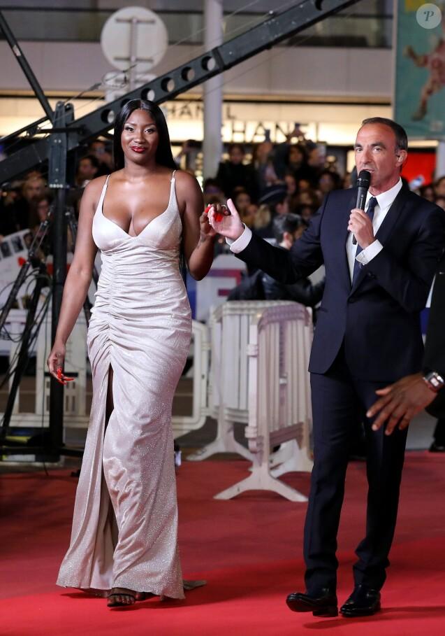 Aya Nakamura et Nikos Aliagas - 21ème édition des NRJ Music Awards au Palais des festivals à Cannes le 9 novembre 2019. © Dominique Jacovides/Bestimage