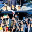 L'empereur japonais Naruhito et l'impératrice Masako lors du défilé royal commémorant l'intronisation de l'empereur Naruhito à Tokyo, au Japon le 10 novembre 2019.