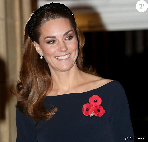 Kate Middleton, duchesse de Cambridge - La famille royale assiste au Royal British Legion Festival of Remembrance au Royal Albert Hall à Kensington, Londres, le 9 novembre 2019.